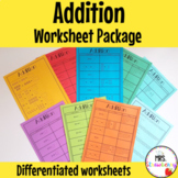 Addition Worksheets Package