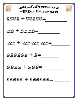 Addition Worksheet - Picture