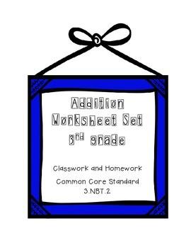 Addition Worksheet Set