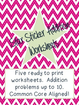 Sticker Addition Worksheet - Up to 10