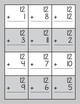 Addition Worksheets 0 through 12 {EDITABLE}