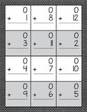 Addition Worksheets 0 through 12 {EDITABLE}