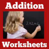 Addition Worksheets Kindergarten  | Kindergarten Adding