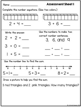 Addition Worksheets and Addition Centers