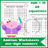 Ten Frame Addition Worksheets