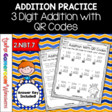 3 Digit Addition with QR Codes