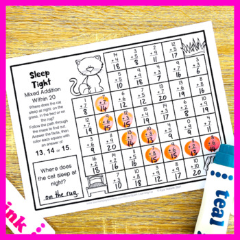 Addition Worksheets within 20 - Addition Center Math Mazes ...