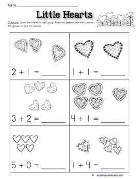 Addition Worksheets: February