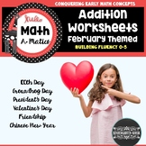 Addition Worksheets: February