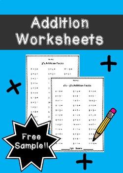 Addition Worksheets Free Sample