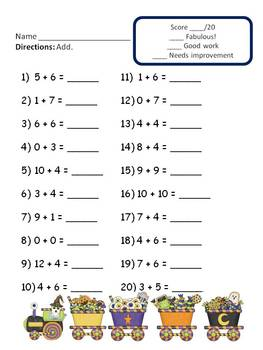 Addition Worksheets (Halloween theme)