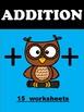 Addition Worksheets - Homework - Practice
