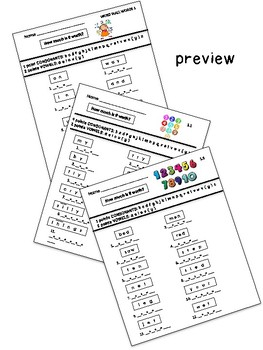 Addition Worksheets: How Much is it Worth?