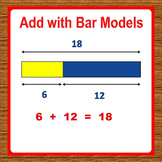 1st Grade Math Worksheets - Add with Bar Models/Tape Diagrams