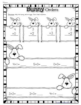 Addition Worksheets: Spring