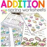 Addition Worksheets | Spring Distance Learning