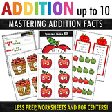 Addition Worksheets and Activities - Apple Theme