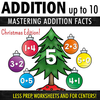 Addition Worksheets and Activities - Christmas Theme