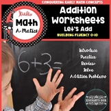Addition Worksheets for Kindergarten
