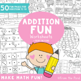 Addition Worksheets for Numbers to 10