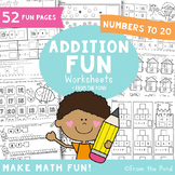 Addition Worksheets for Numbers to 20