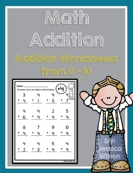 Addition Worksheets from 0-10