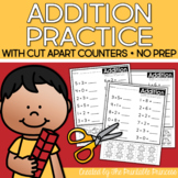 Addition Worksheets with Counters Included