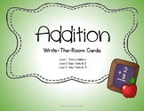 Addition Write-The-Room Cards