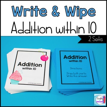 Addition Write and Wipe: Addition within 10