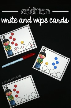 Addition Write and Wipe Cards