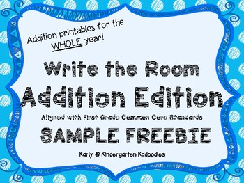 Addition Write the Room Freebie