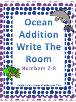 Addition Write the Room- Ocean Themed