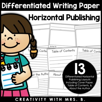 Additional Writing Paper Formats - Horizontal