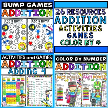 Addition Worksheet Activities Yearlong Math