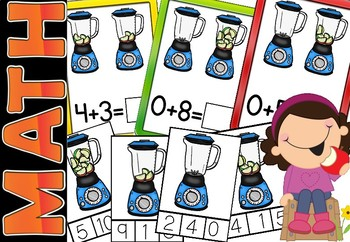 Addition and Clip Card Bundle  #s 1 to 10(sunnah learners)
