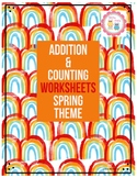 Addition and Counting Worksheets - Spring Theme - #Teacher