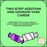 Addition and Division Two-Step Operation Math Cards