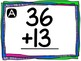 Exercise Math!- Double Digit Addition without Regrouping