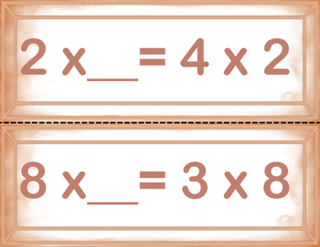 Addition and Multiplication Commutative Property Center