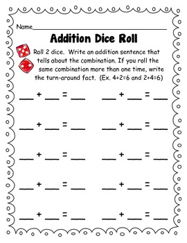 Addition and Multiplication Fact Dice Roll