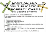 Addition and Multiplication Property Cards