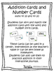 Addition and Number Cards - Sums up to 10 and to 20