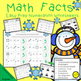 Math Facts and Number Sense Addition Worksheets Winter Theme