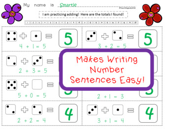 Addition and Number Sense Worksheets February