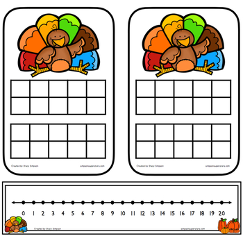Addition and Related Math Facts to 20 ~ Thanksgiving Edition