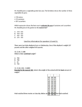 Addition and Rounding Assessment
