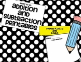 Ready to Go Addition and Subraction Word Problems K.OA.1 a