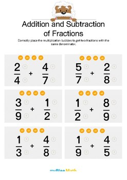 Fractions: Addition and Subtraction of Fractions 1