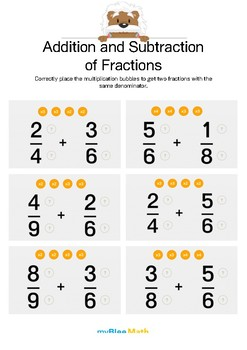 Fractions: Addition and Subtraction of Fractions 2