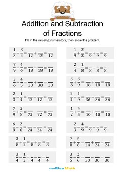 Addition and Substraction of Fractions 4